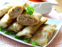 Gołąbki z ryżem, mięsem oraz pure z  selera