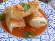 Gołąbki z szybkowara z sosem ze świeżych pomidorów