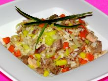 Golonka z ryżem i warzywami