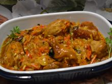 Golonka z warzywami chińskimi