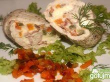 Gotowana roladka z piersi kurczaka