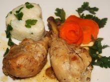 Gotowane pałki kurczaka  z imbirem i cytrusami