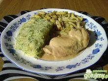 Gotowane Udka z Fasolką i Sos.Chrzanowym