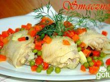 Gotowane udka z warzywami :-)