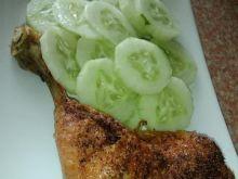 Gotowany kurczak zapiekany na złoto
