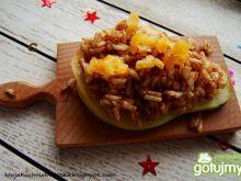 Grillowana gruszka z ryżem i cynamonem