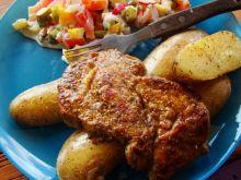 Grillowana karkówka z młodymi ziemniakami