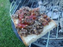 Grillowana kaszanka z ketchupem