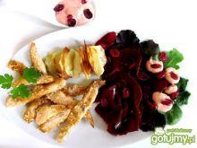 Grillowana pierś z kurczaka z buraczkami