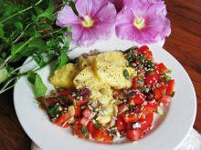Grillowana polenta z salsą pomidorowo-paprykową