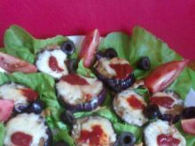 Grillowane bakłażany z serem greckim