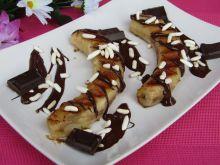 Grillowane banany w sosie czekoladowym z ryżem