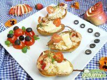 Grillowane gruszki z kuskusem i camember