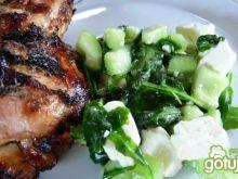 Grillowane imbirowe ćwiartki z kurczaka