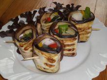 Grillowane roladki z bakłażana