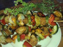 Grillowane szaszłyki warzywno  - drobiowe