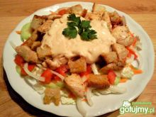 Grillowany kurczak na sałatce