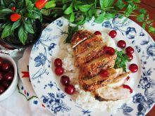 Grillowany kurczak z sosem winno – wiśniowym