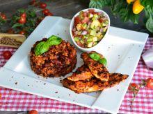 Grillowany kurczak a la mexicana z kolorową salsą