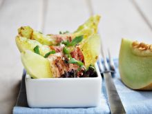 Grillowany melon z bekonem