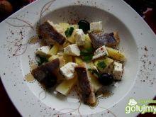 Grillowany śledz z serem feta