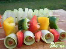 grilowane szaszłyczki warzywne