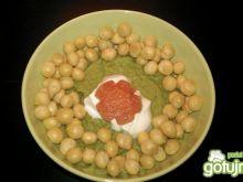 Groszkowa zupa krem z groszkiem ptysiowy