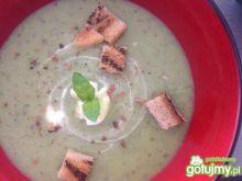 Groszkowo- porowa zupa krem