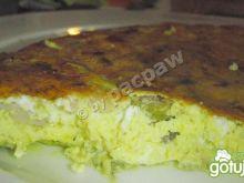 Gruby omlet z  polędwicą łososiową