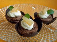 Gruszki pod czekoladowym kremem z kardamonem