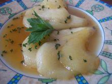 Gruszki w miętowym sosie