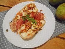 Gruszki z soczewicą i kozim serem