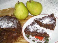 Gruszkowo owocowy murzynek bez miksera