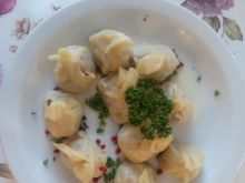 Gruzińskie pierogi Chinkali z mięsem