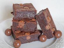 Gryczane brownie z orzechami laskowymi