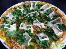 Gryczany omlet ze szpinakiem