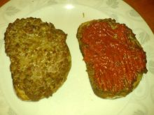 grzanki z mięsem