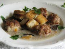 Zupa grzybowa z pulpetami
