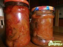 Grzyby z papryką i cebulą