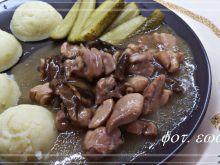 Gulasz drobiowo - grzybowy z miodową nutą