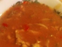 Gulasz pieczarkowy w sosie pomidorowym