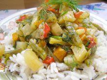 Duszone warzywa z ryżem