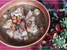 Gulasz wieprzowo - warzywny z nutą grzybową