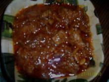 Gulasz wieprzowy z kapustą kiszoną.