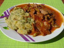 Gulasz wołowy z fasolką szparagową po egipsku