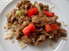 Gulasz z indyka z ryżem