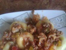 Gulasz z mięsa mielonego i kalafiora