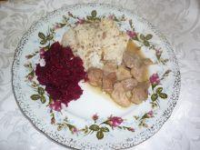 Gulasz z szynki wieprzowej w sosie własnym
