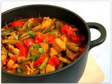 Gulasz z szynki z warzywami