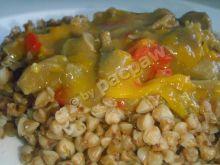 Gulasz z żołądków drobiowych z marchewką i papryką